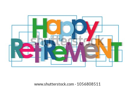 Happy retirement vector letters