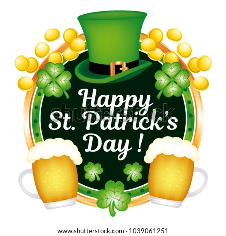 Happy saint patrick's day ! Vector illustration.