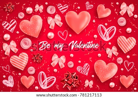 Vector valentines love background download free vector art stock happy saint valentines day vector illustration with heart bow pearl lettering ribbon m4hsunfo