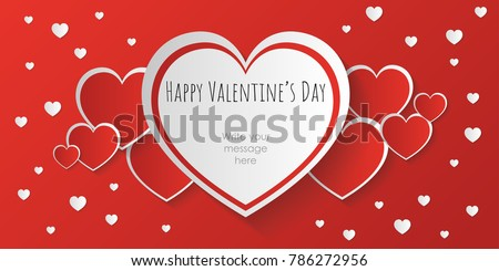 Happy San Valentine Day Banner Or Background With Space To Writing Message    San Valentines Day