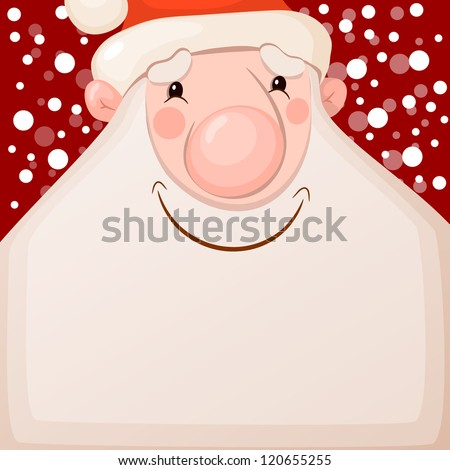 Happy Santa Claus. Vector illustration