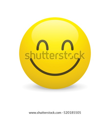 Happy smiley vector