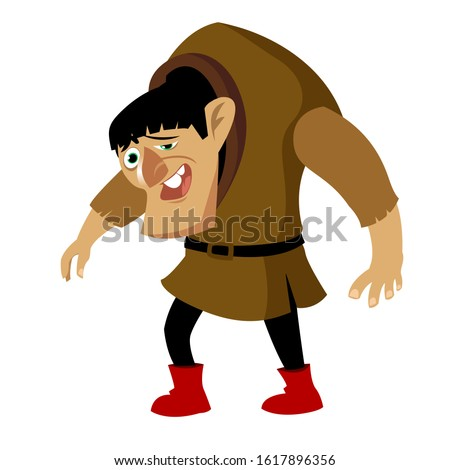happy smiling cartoon hunchback