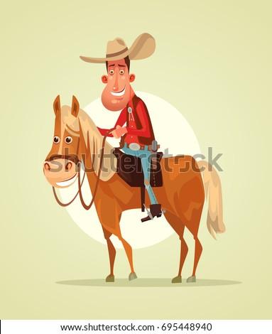 happy smiling cowboy sheriff