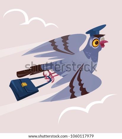 happy smiling dove pigeon bird