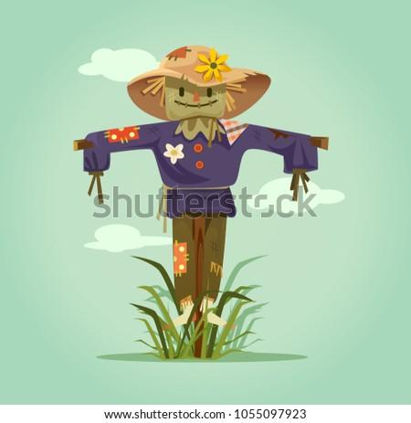 happy smiling scarecrow