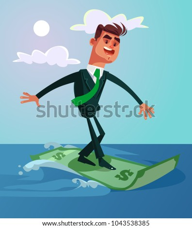happy smiling successful surfer