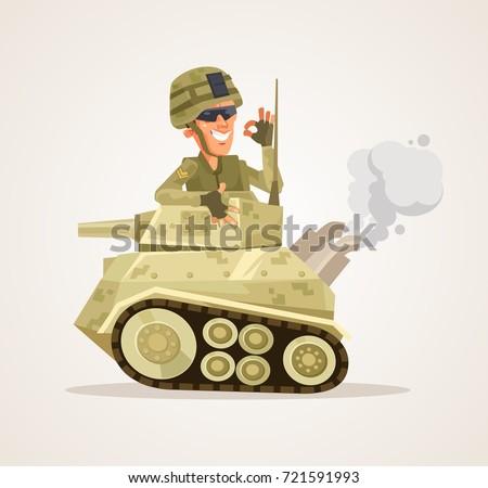 happy smiling tank man