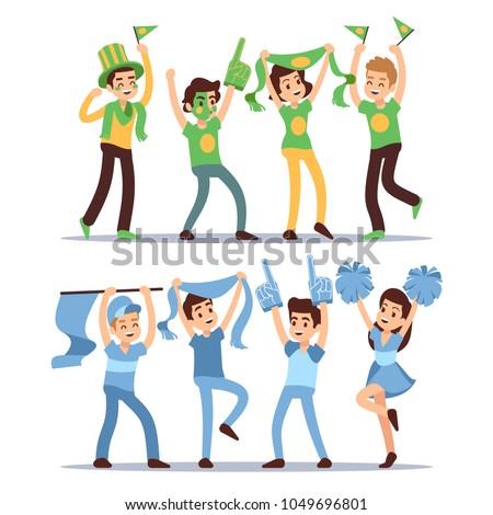 happy sports fun teams group