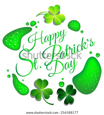 happy st patrick day card with