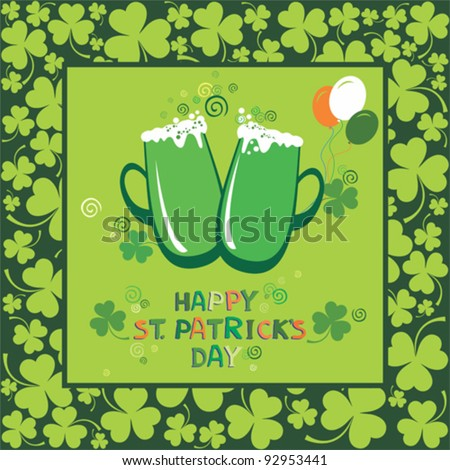 Happy St. Patrick's Day card. vector illustration