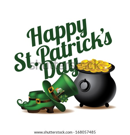 Happy St. Patrick�s Day design element. EPS 10 vector, grouped for easy editing. No open shapes or paths.