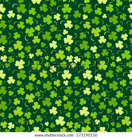 Happy St. Patrick's day seamless background, vector illustration