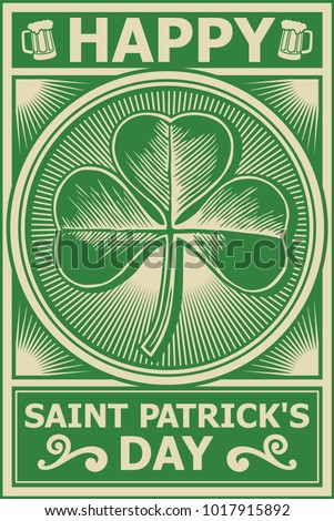 Happy St Patricks Day poster