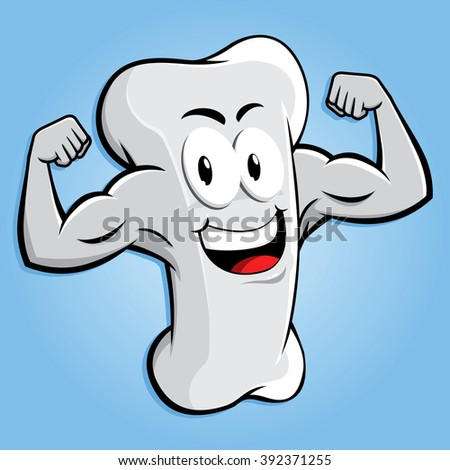 happy strong bone character
