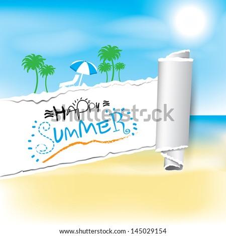 Happy summer Vector background.