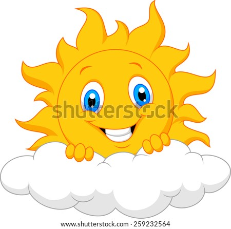 Happy sun behind the cloud