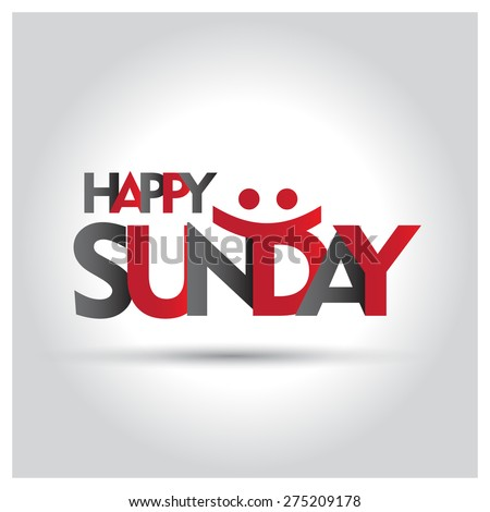 happy sunday letters creative
