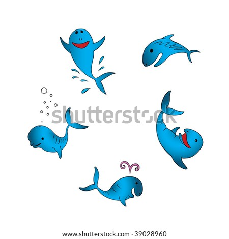 Happy swimming fish vector illustration 39028960 for Happy fish swimming