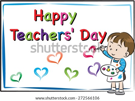 Happy teachers day greetings download free vector art stock happy teachers day card m4hsunfo