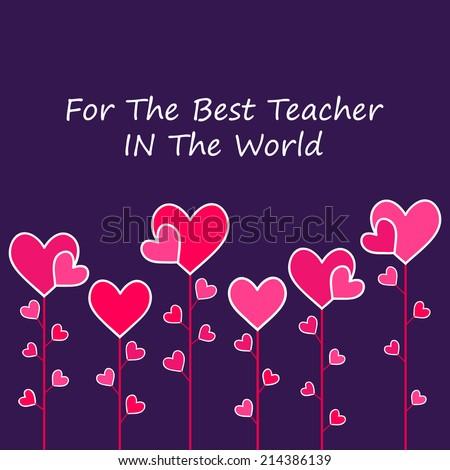 Happy Teacher\'s Day Heart background