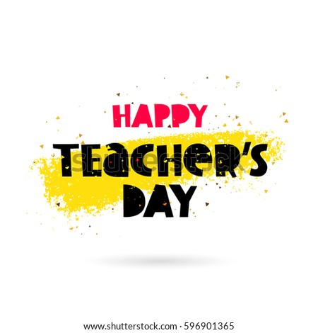 happy teacher's day lettering