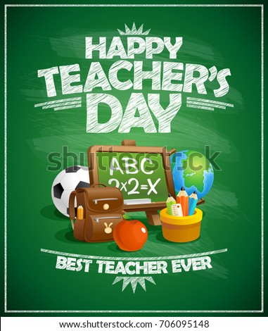 happy teacher s day poster