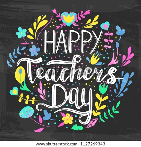 happy teacher's day vector