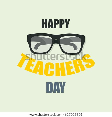 Happy Teachers Day, Poster or Banner fot your design