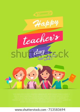 happy teachers day written in