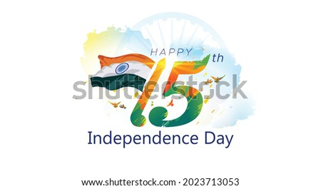 Happy 75th independence day of India background concept
