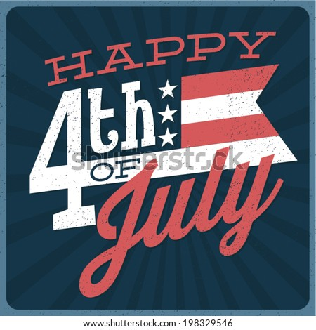 Happy 4th of July - Independence Day Vector Design - July Fourth Stock photo ©
