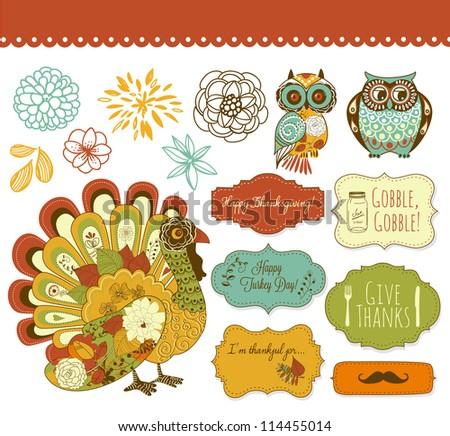 Happy Thanksgiving beautiful clip art