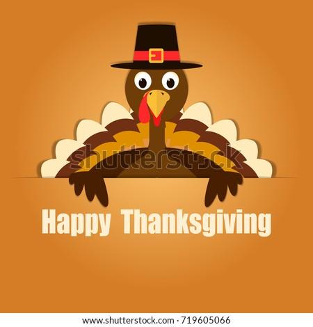 Happy Thanksgiving Celebration Design. Vector Illustration