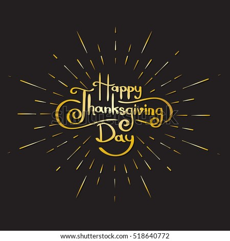 Happy Thanksgiving day background and  Typography design of thanksgiving day vector illustration