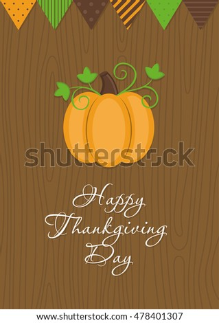 Happy Thanksgiving Day card design. Vector illustration.