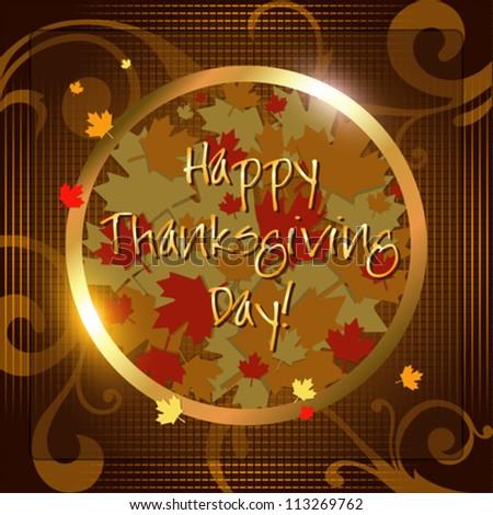 Happy Thanksgiving Day card. Vector Illustration.