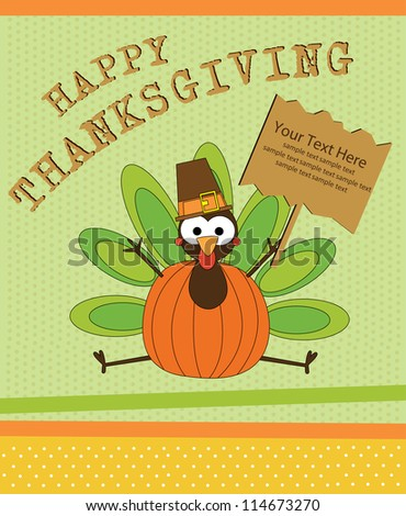 happy thanksgiving day card. vector illustration