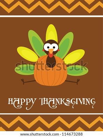 happy thanksgiving day card. vector illustration