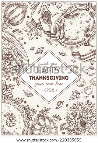 happy thanksgiving day template