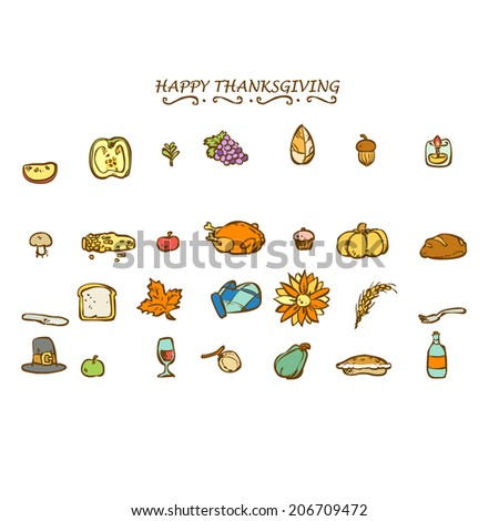 HAPPY THANKSGIVING DECO ELEMENTS