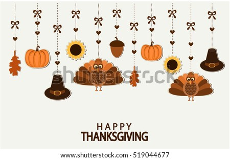 Happy Thanksgiving greeting card or background. vector illustration.