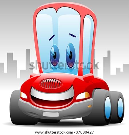 happy toon car
