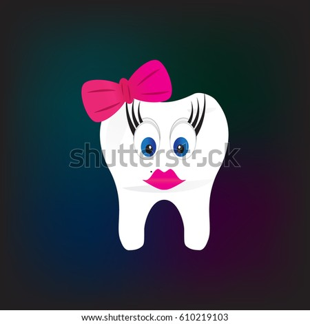 happy tooth icon dentist day