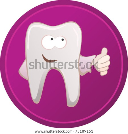 happy tooth vector - for girl