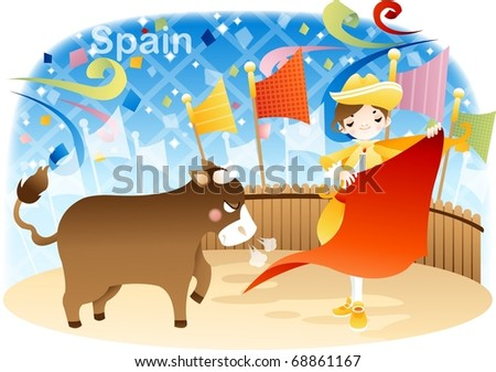Happy Travel with Cute Friends on blue background : vector illustration - stock vector