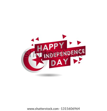 Happy Tunisia Independence Day Vector Template Design Illustration