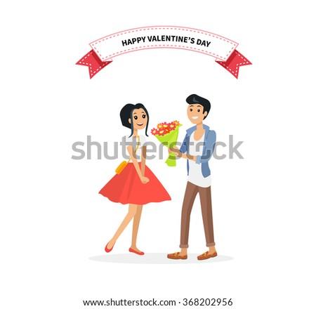 happy valentine day couple man