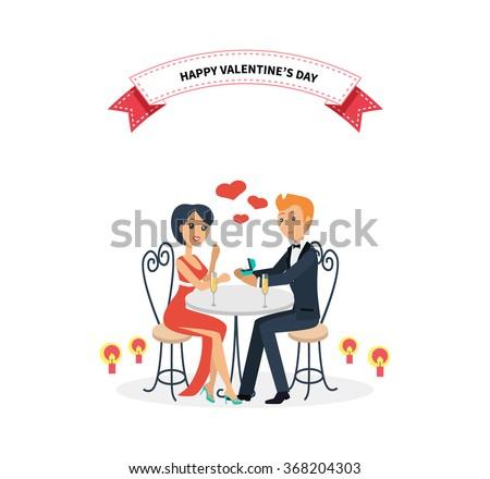 happy valentine day couple