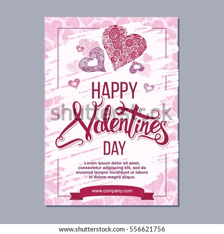 happy valentine day flyer